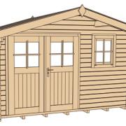 Szerszámos faház szerkezeti rajza 109