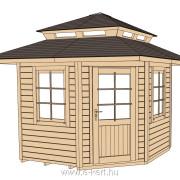 149-es faház tetőkiemeléssel