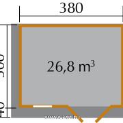 Prémium gerendaház 45 mm 152/1