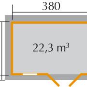 Prémium faház 163/3  alaprajza