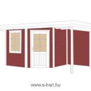 5-szögletű kerti faházunk két színre festve