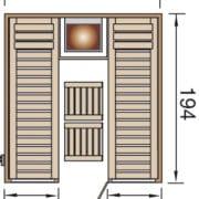 Weka panel szaunaák a könnyű összeszerelés érdekében