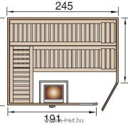 Gerendavázas finn szauna építés, előregyártott kész Weka sauna szállítás raktárról