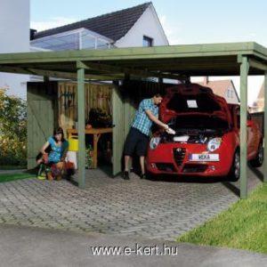 Autó beálló szerszámosházzal együtt 512x602 cm