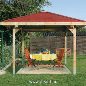Kerti pavilon építés 333x333 cm