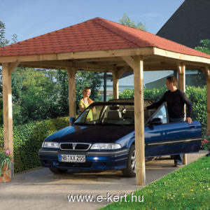 Kerti pavilon, nyitott garázs