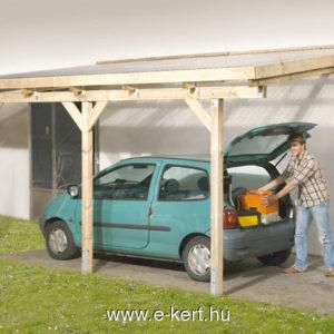 Terasz tető, megtámasztott garázs gyártás 4-es méret