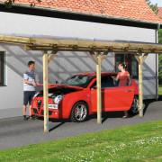 Terasz tető, megtsámasztott garázs építés