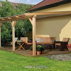 Terasz előtető polikarbinát vagy zsindely tetővel