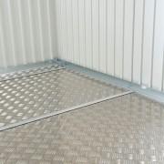 Opcionálisan rendelhető alumínium padló a kerti tárolóhoz
