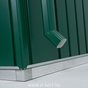 Opcionálisan rendelhető fém csatorna a ház színében