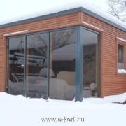 Cubilis minimalista gerendaház , szaunaház télen