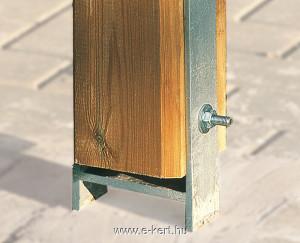 Garázs pillérek talajhoz rögzítése H-vasakkal