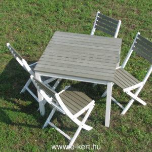 Newton kerti szett  4db székkel