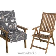 A garnitúra masszív kerti fotellal is bővíthető 10cm vastag párnával M918