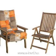 A garnitúra masszív kerti fotellal is bővíthető 10cm vastag párnával B002