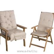 A garnitúra masszív kerti fotellal is bővíthető 10cm vastag párnával MM07