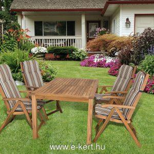4-személyes kerti bútor csíkos B104 párnákkal