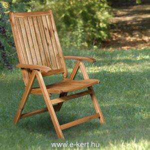 5-pozíciós, összecsukható akácia kerti székünk