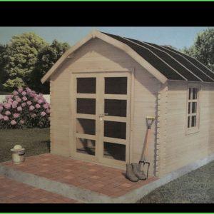 Igényes kerti faház hétvégiház 350x350cm. Szaunaház kialakítására is ajánlot háztípus.