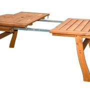 Robusztus bővíthető kerti asztal