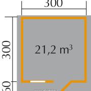 Kerti faház 3x3méter alaprajza