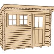 Szerszámos faház szerkezeti rajza 116. typ