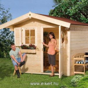 Nyeregtetős kerti faház
