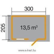 Szerszámtároló faház 123-as alapozási rajza