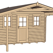 Szerkezeti rajz gerenda faházhoz