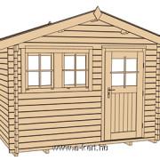4x3 méteres faházunk szerkezeti rajza 139 type