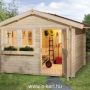3x2,5 méteres kerti faházunk 34mm vastag falakkal