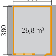 Faház alaprajza  380x300 vagy 400x300 cm