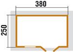 Tömörfa-ház 28 mm 163/3 -