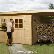 Szerszámos faház fatárolóval Weka 170-es típus