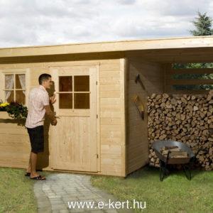 Faház fatárolóval több méretben is rendelhető