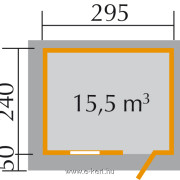 Szerszámtároló alaprajza Weka 170-es típus