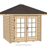 177-es faház sátortetővel építve