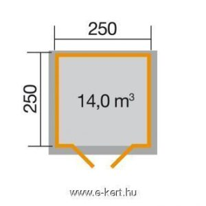Szerszámtároló faház alapozási mérete 209