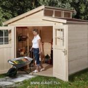 Akciós szerszámos kerti ház natúr  158-as típus