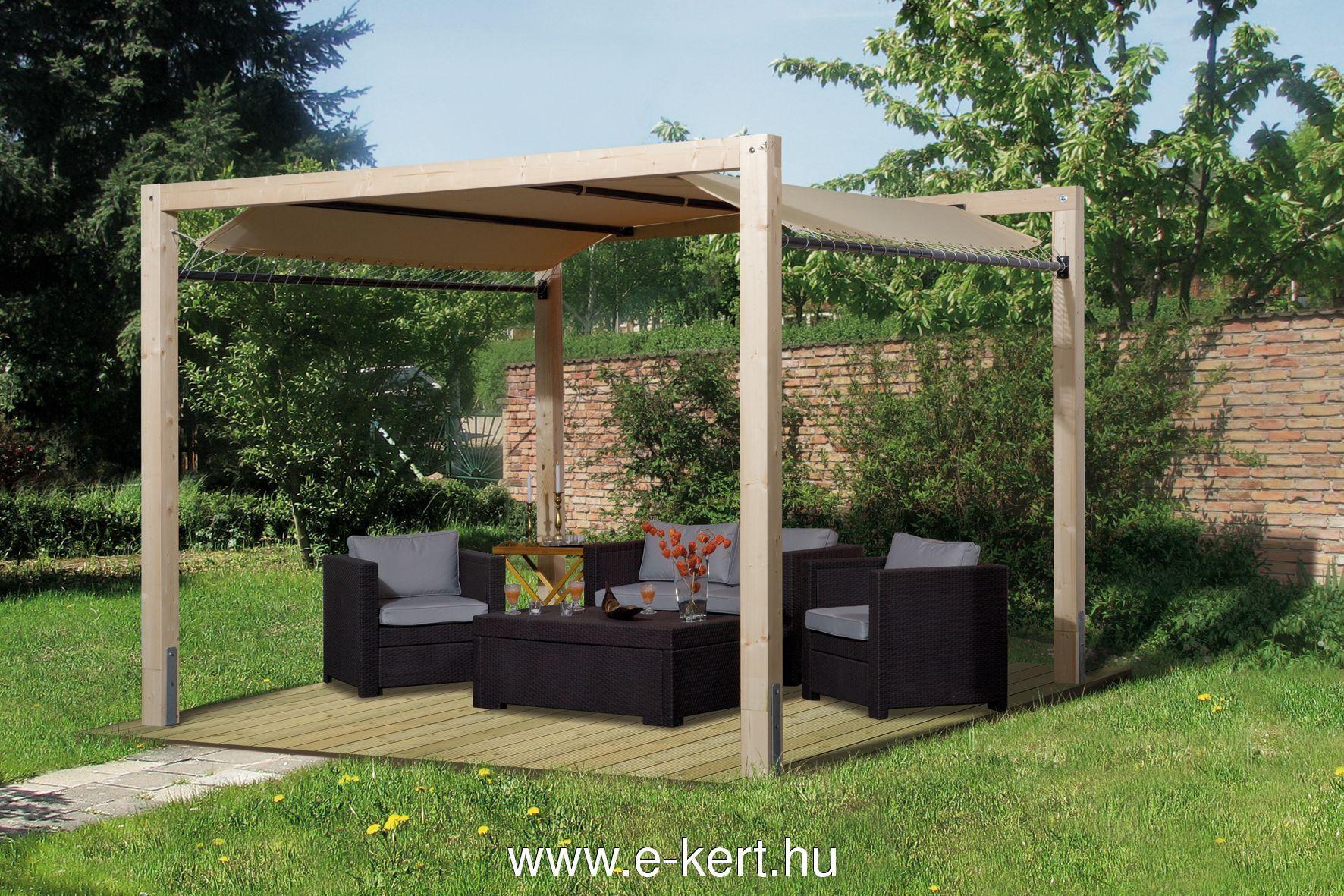 Kerti pavilonunk többféle padlózattal is rendelhető
