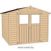 Weka szerszámtároló faház szerkezete