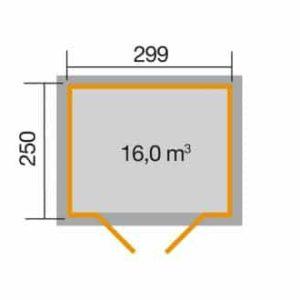 Faház 323.3025 alapozási mérete