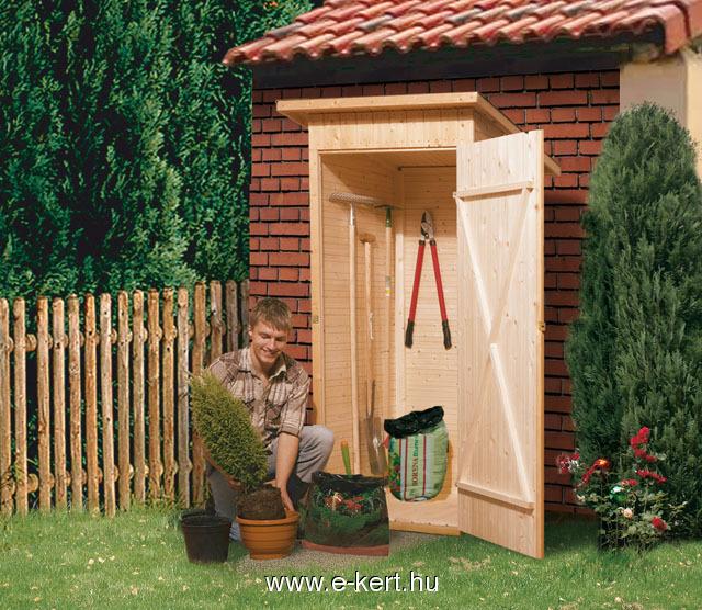 Egy ajtós szerszámtároló vagy kerti WC fából
