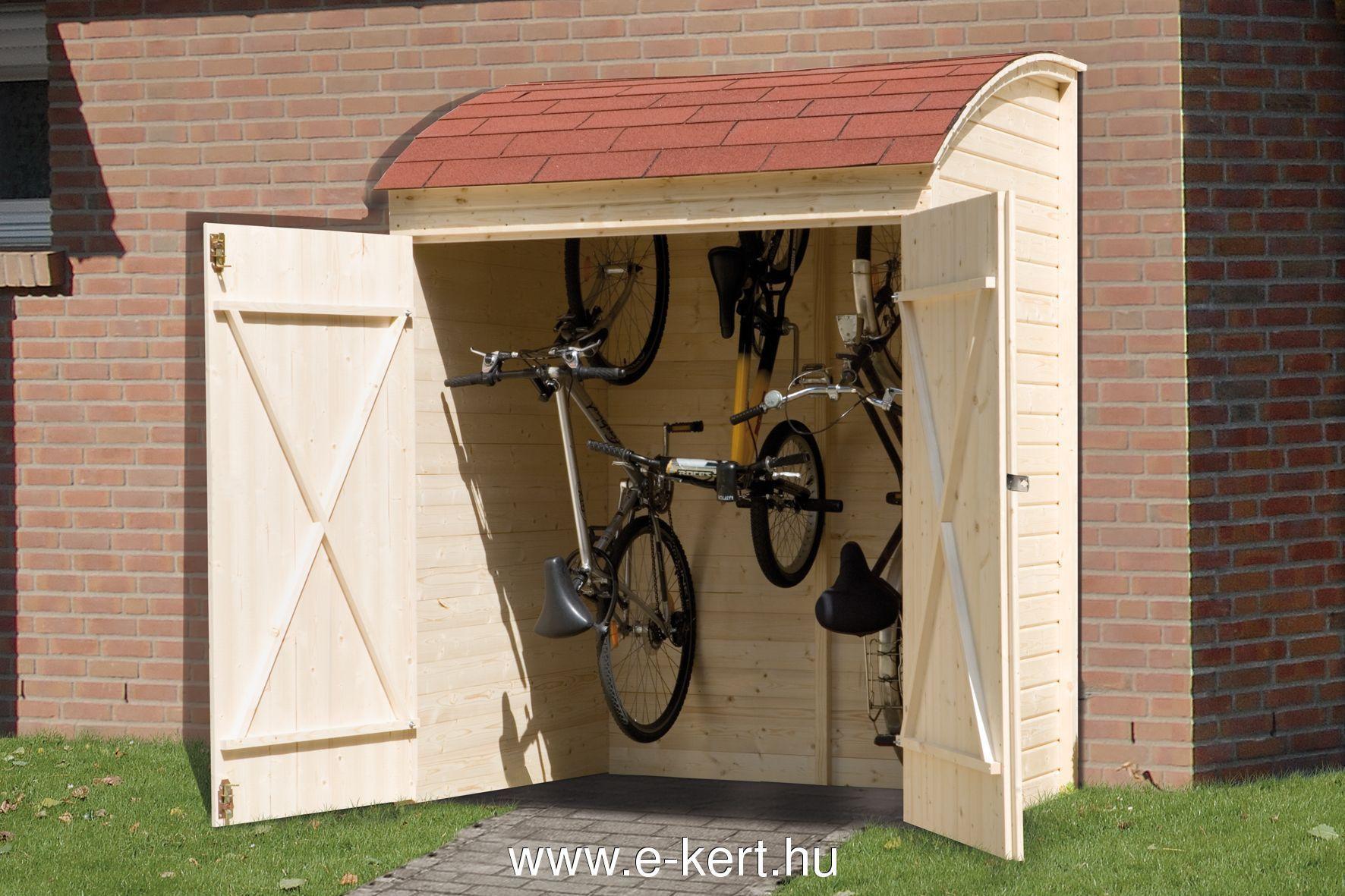 Kerékpár tároló fából