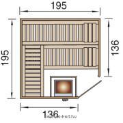 Szauna Kemi OS 45 mm finn panelszauna