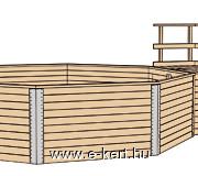 Kerti medencénk szerkezeti rajza