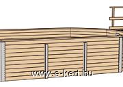 Gerendavázas medence szerkezete