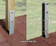 Pillér rögzítő horganyzott  H-vas kötőelemekkel együtt