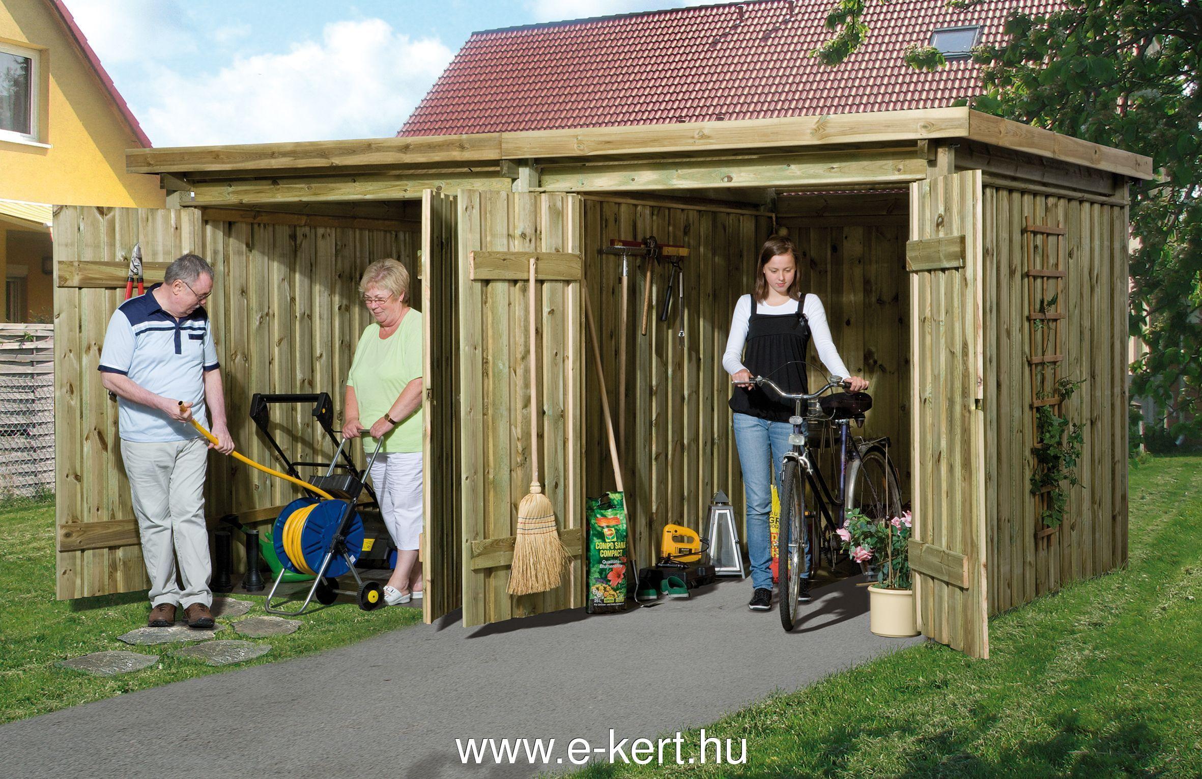 Szerszámtároló, kerékpár tároló dupla ajtóval
